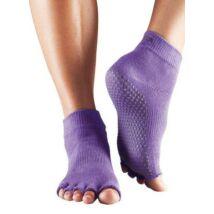 Sosete Yoga medii cu degete decupate Violet - Toesox