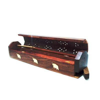 Cutie suport betisoare parfumate- din lemn