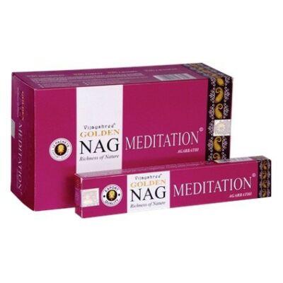 Betisoare parfumate Golden Nag Meditation Agarbatti