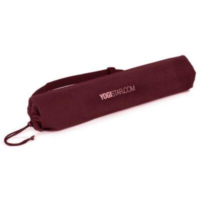 Husa Saltea Yoga Basic Bumbac Bordeaux - pentru saltele de 61 cm latime