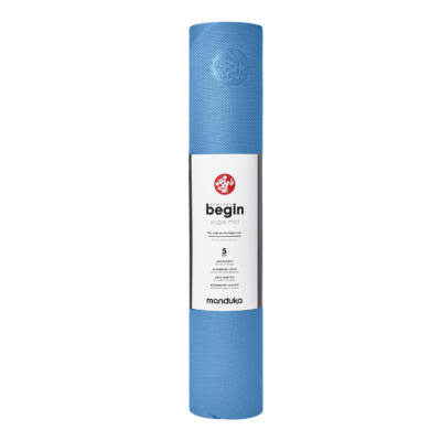 Saltea Yoga - Manduka - Begin - Light Blue - 172x61x0.5 cm