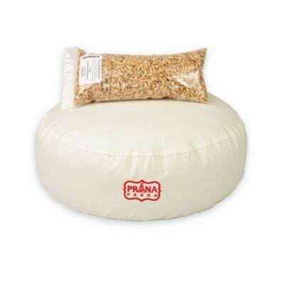 Perna Yoga rotunda pentru meditatii cu alac Prana 36x12cm  + umplutura cadou 100g