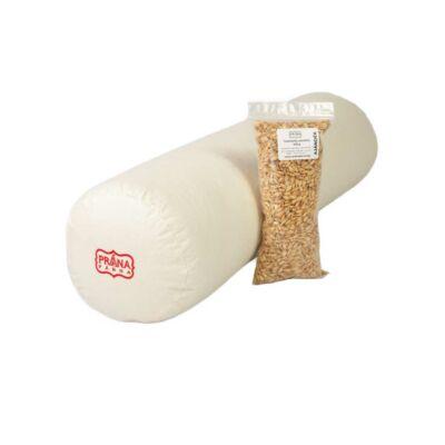 Perna cilindrica bolster Prana cu alac 70x20 cm  + umplutura cadou 100g