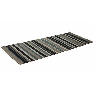 Covor Yoga din bumbac - Forest olive/black - Yogistar - 192cm x 72cm x 0.3cm