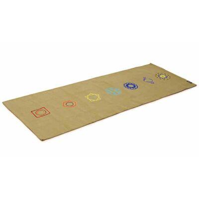 Covor Yoga din bumbac - Chakra Olive - Yogistar - 192cm x 72cm x 3cm
