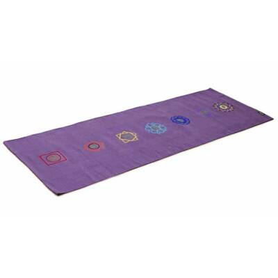 Covor Yoga din bumbac - Chakra Violet - Yogistar - 192cm x 72cm x 0.3cm