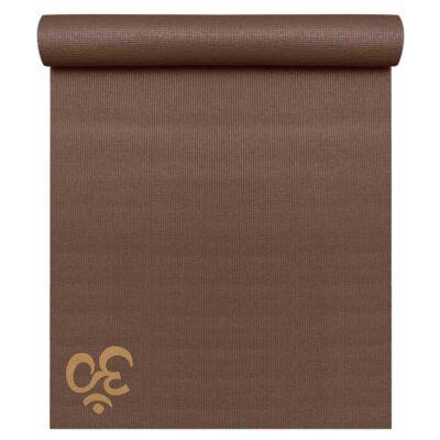 Saltea Yoga Basic OM Choco Brown - Yogistar - 183x61x0.4cm