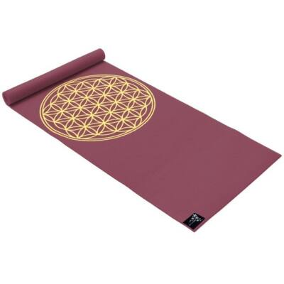 Saltea Yoga Basic Floarea Vietii bordeaux - Yogistar - 183x61x0.4cm