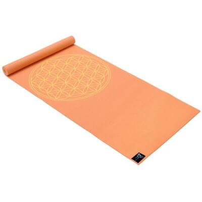 Saltea Yoga Basic Floarea Vietii mango - Yogistar - 183x61x0.4cm