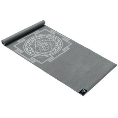 Saltea Yoga Basic Sri Yantra grafit - Yogistar - 183x61x0.4cm