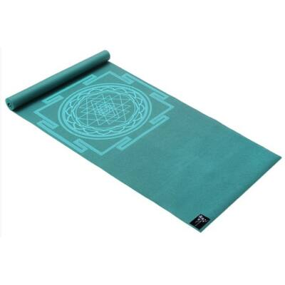 Saltea Yoga Basic Sri Yantra teal - Yogistar - 183x61x0.4cm