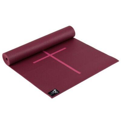 Saltea Yoga Plus cu marcaje Bordeaux - Yogistar - 195x61x0.5cm