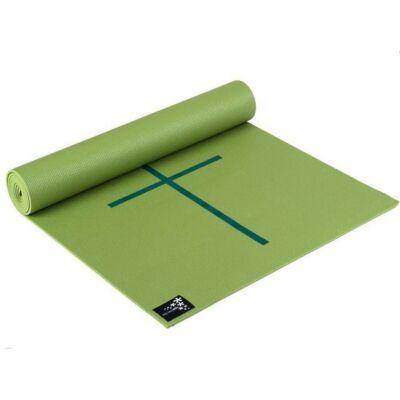 Saltea Yoga Plus cu marcaje Kiwi - Yogistar - 195x61x0.5cm