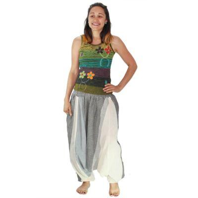 Pantaloni yoga tip salvari - Crem - Gri