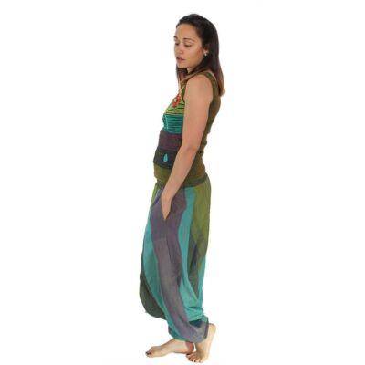 Pantaloni yoga tip salvari - Hippie colors